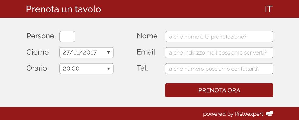 Ristoexpert widget prenotazioni